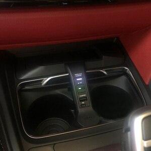 Image 2 - 10w 자동차 qi 무선 충전 전화 충전기 충전 플레이트 전화 홀더 BMW F30 F31 F32 F33 F34 F35 F36 F82 M4 액세서리