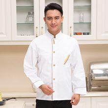 cd4482229ac Nueva llegada uniforme de Chef de manga larga Hotel uniforme de Chef pastel  Baker tienda de ropa restaurante Citchen ropa Plus t.