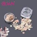 BQAN 1 Box Ultra-Thin Nail Studs 3D Nail Art Decoration Metal Gold Bronze Time Wheel Steampunk Style Manicure DIY Accessories