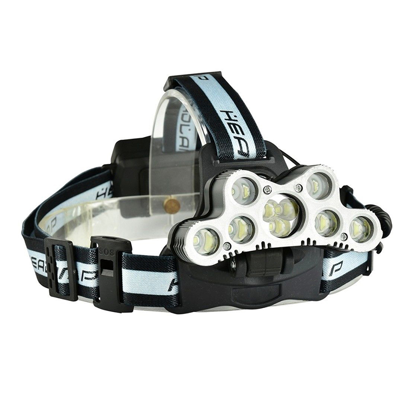 9x XM-L T6 LED USB Adjustable Rechargeable Headlight Headlamp 2*18650 Battery For Outdoor Climbing Camping With SOS whistle high quality 2 mode power 5w led headlight 48000lx outdoor fishing headlamp rechargeable hunting cap light