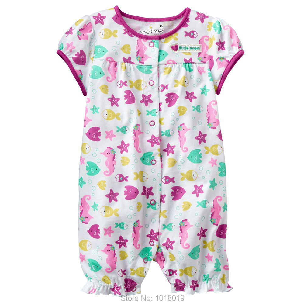 6M~24M, New 2017 Branded Quality Cotton Newborn Baby Girls Clothing Clothes Ropa Bebe Creeper Jumpsuit Baby Girls Rompers Summer brand 100% cotton new 2017 ropa bebe newborn baby girls clothing clothes romper creeper jumpsuit short sleeve baby girls rompers