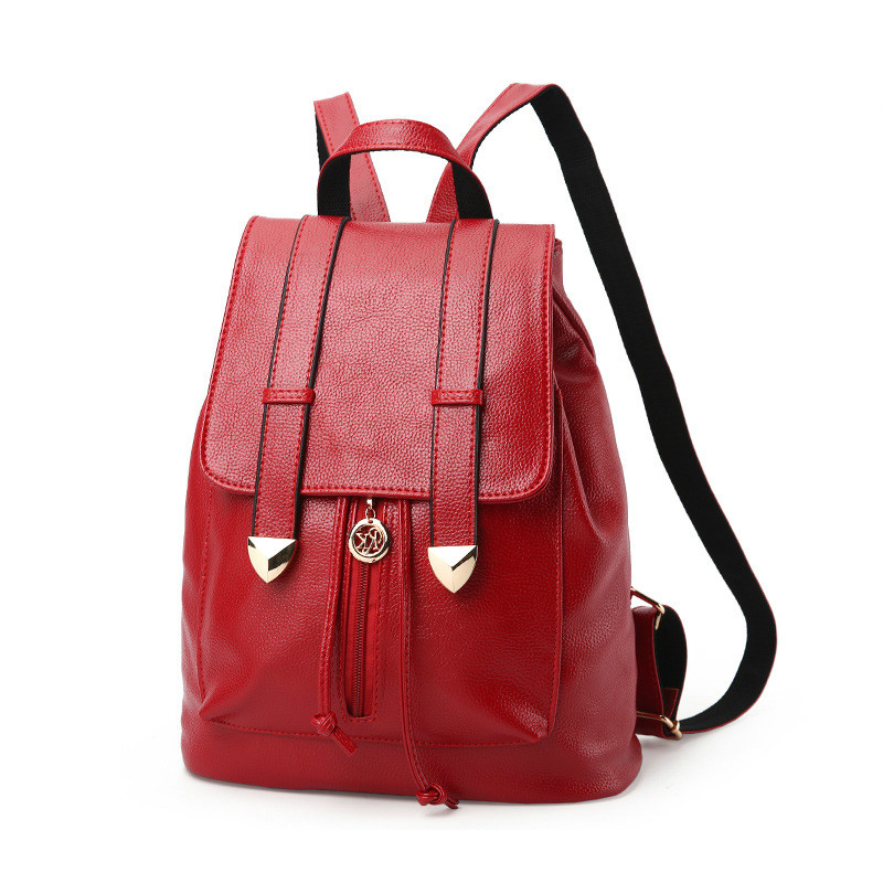 MONNET CAUTHY Bags for Women Concise Leisure New Fashion Korean Style Backpacks Solid Color Navy Blue Wine Red Black Ladies Bag