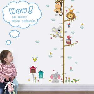 GUIGUIHU Measure Wall Sticker For Kids Rooms Wall Decals