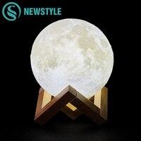 Creative 3D Moon Light LED Night Light Touch Switch Children Bedroom Night Lamp Novelty Light For