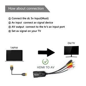 Image 4 - WIISTAR HDMI RCA の AV CVBS コンポーネント変換コンバータボックススケーラー 1080 アダプタケーブルボックス Monito ための L/R ビデオ HDMI2AV HD サポート NTSC PAL