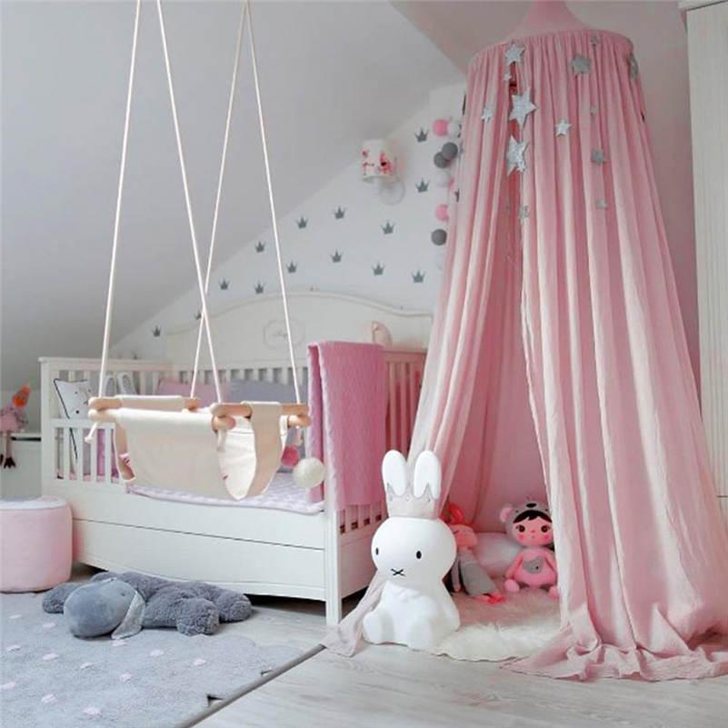 2017 tente berceau filet Palace enfants chambre lit rideau accroché dôme moustiquaire coton enfants filles manteau filets Tents27