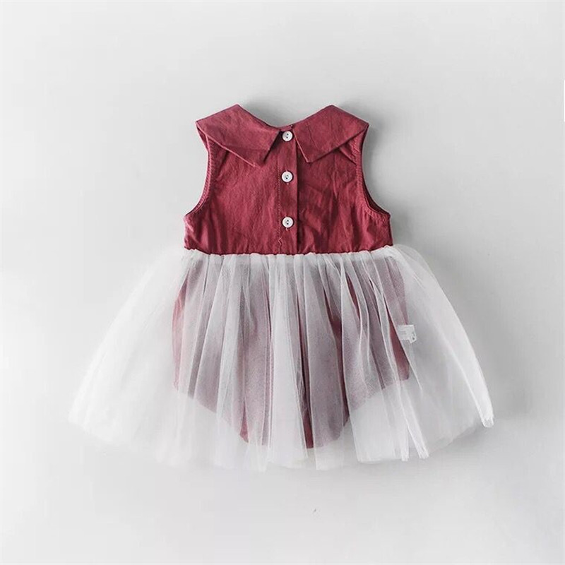 bb387a088 2019 Baby Summer Cotton Dress Infant Mesh Romper Dresses Girls Princess  Solid Color Bubble Dress Ball Gown for Little Babies