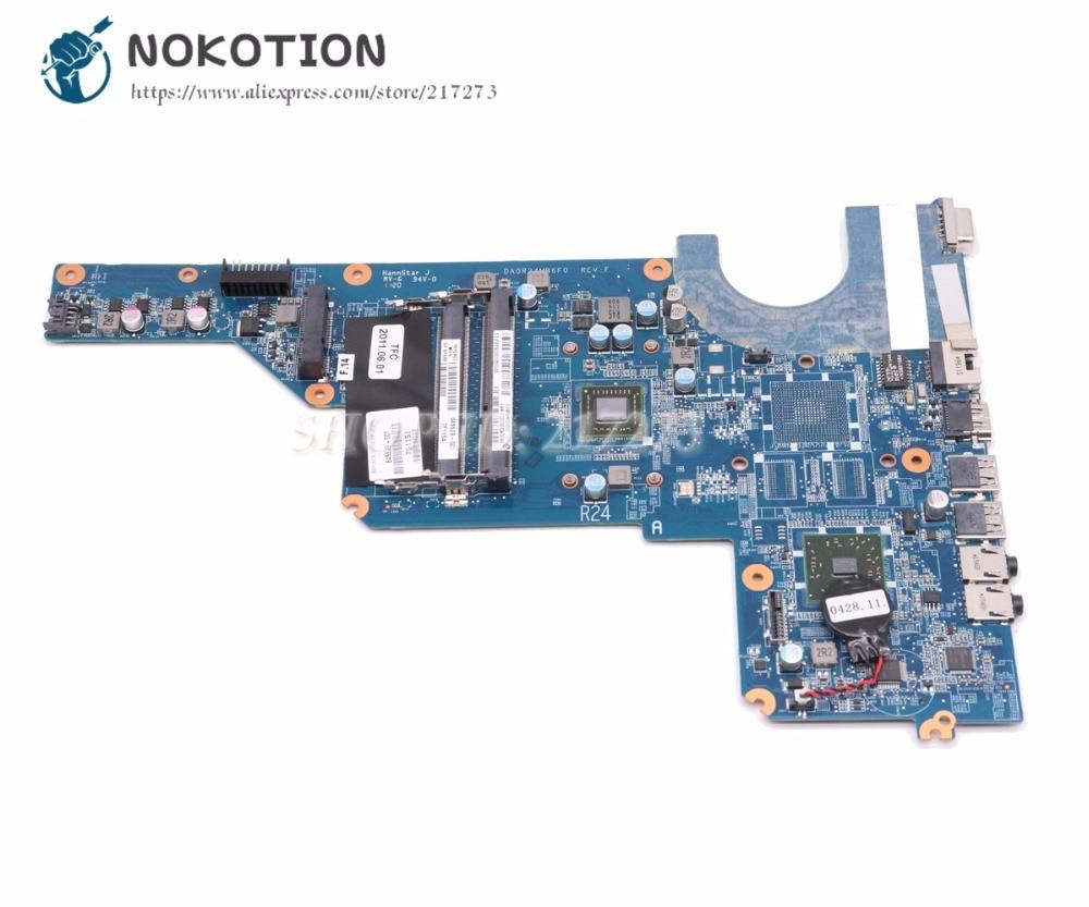 NOKOTION Laptop Motherboard For Hp Pavilion G4 G6 Main Board DA0R24MB6F0 645529-001 Processor Onboard DDR3