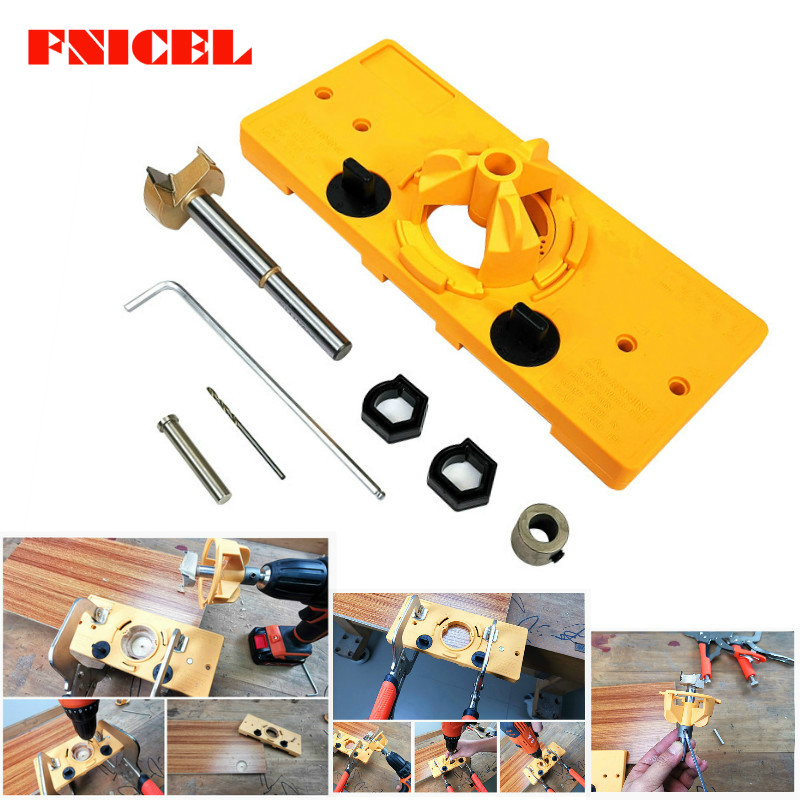 NEW 35mm Hinge Drill Saw Jig Guide Locator Hole DIY Boring Drill Forstner Bit woodworking tool drill bits For Kreg System