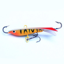 KKWEZVA New 4pcs/lot 60mm 9.3g Ice jig for Fishing Lure winter Ice Fishing Hard Bait Minnow Pesca Tackle Isca Artificial Bait