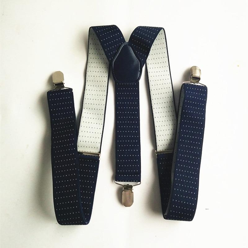 Dot Printed Mens Suspenders High Quality 4 Clips Suspensorios Adjustable Elastic Braces Plus Size Men Women Party Wear Bd059 Excellent Quality Men's Accessories
