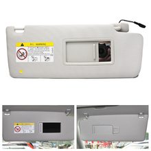 Car Styling Beige Left / Right Interior Sun Visor Panel & Makeup Mirror with Cable for VW Touran L 2017 5TD857521, 5TD857522