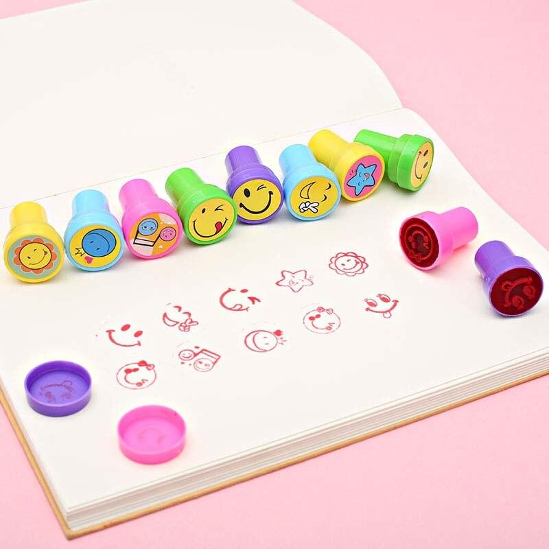 12 Stks Self-inkt Postzegels Kids Party Gunsten Event Supplies Voor Verjaardagsfeestje Speelgoed Jongen Meisje Goody Bag Pinata Vulstoffen