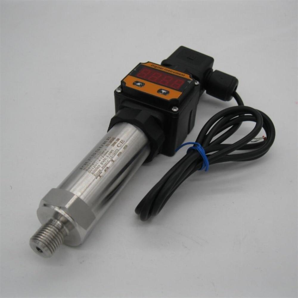 0-1bar, 0-0.6bar, 0-0.16bar, 12-36VDC, G1/4, saída 4-20MA, 0.5%, Display Digital Transmissor De Pressão Sensor de Transdutor de Pressão