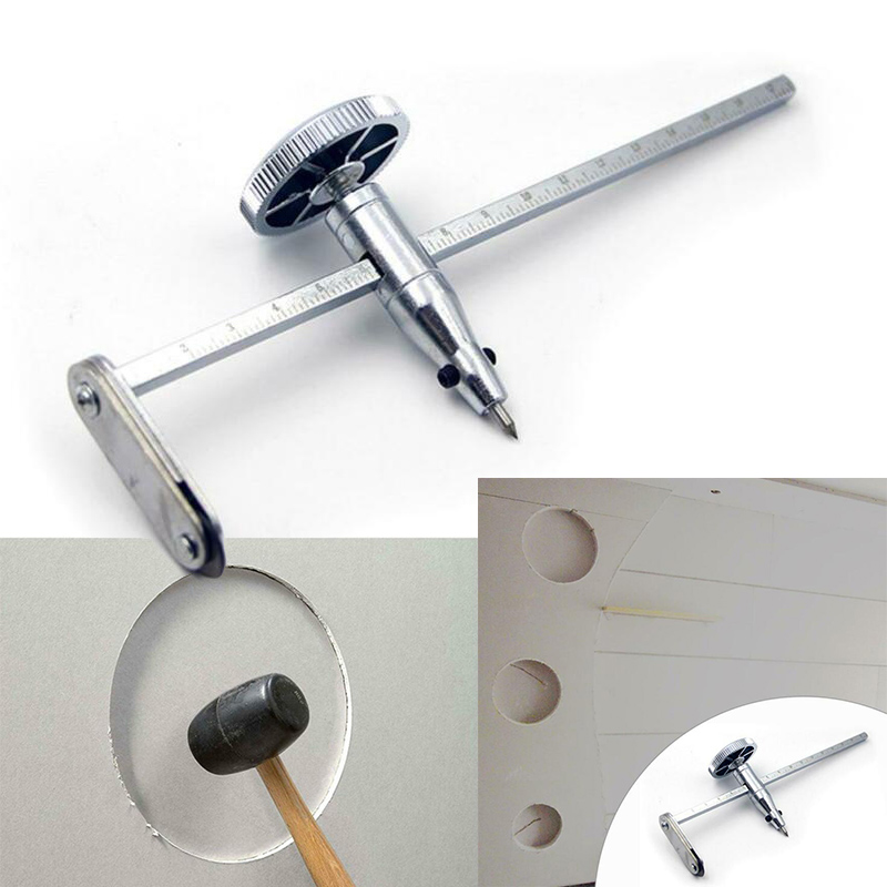 1Pc Circular Plasterboard Accessories Tools Cutting Steel Adjustable Circle Hole Cutter Drywall Round Gypsum Board Cutting Drill