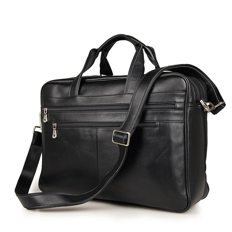 J.M.D натуральная коровья кожа мужской черный портфель сумка для ноутбука мульти Compart Мужская t дизайн большой вместительности мужская дорожн