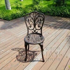 Image 2 - Outdoor uso Interno Patio in Fusione di Alluminio Bistro Set tavolo con 2 sedie in Rame Antico