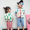 Primavera/Verano Bobo choses Outwear cabritos de La Historieta Ropa Niños niñas niño Niños Artista zip chaquetas aire acondicionado Protector Solar Con Capucha