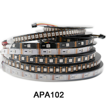 1m/3m/5m APA102 Smart led pixel strip 30/60/144 leds/pixels/m,IP30/IP65/IP67 DATA and CLOCK seperately DC5V