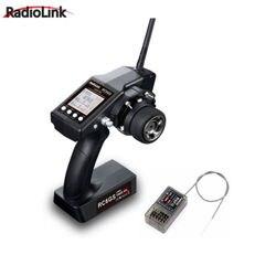 RadioLink RX RC6GS 2.4G 6CH RC รถเรือ Controller Transmitter & R6FG Gyro ภายในตัวรับสัญญาณ
