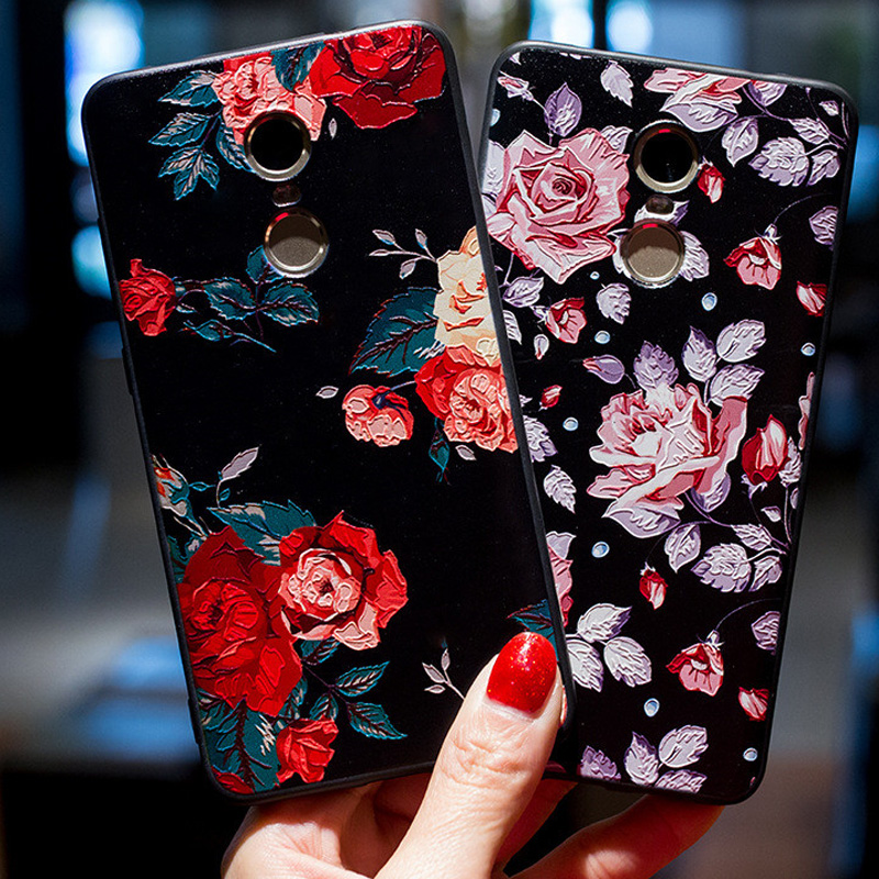 3D Flowers Case Silicion Soft Cover Xiaomi Redmi Note 4X Phone Case Redmi 4 Pro 4A 4X Floral Rose Case Xiaomi Redmi Note 4 Funda