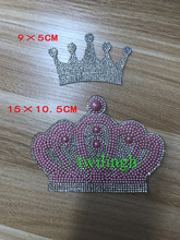 1 Piece Crown Patch DIY Iron On Patches Hot Fix Rhinestone Applique For Newborn Baby Boy Girl Clothing Decoration