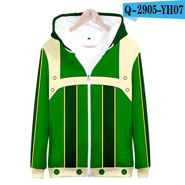 My hero academia hoodies izuku midoriya shouto todoroki boku no hero academia Cosplay Costume Sweatshirt boys girl Zipper Jacket 10