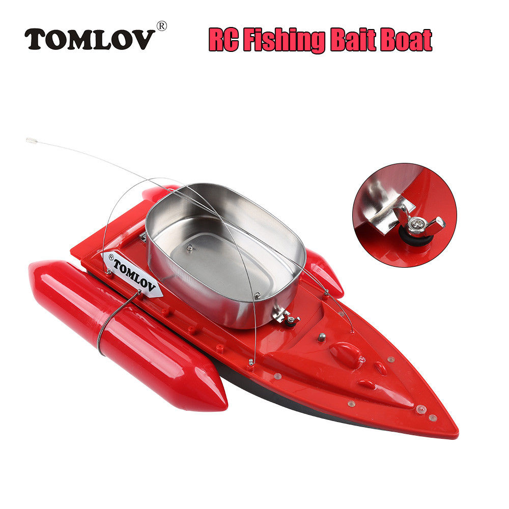 TOMLOV T10W Mini RC Boat 300M Remote Control Fishing Bait Boats Lure Wireless Bateaux RC Vitesse Electric Ship For Fish Finder mini fast electric fishing bait boat 300m remote control 500g lure fish finder feeder boat usb rechargeable 8hours 9600mah