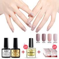 1 компл. 100% натуральная Best продажи Bluesky Гель Лак для ногтей Топ Популярные DIY Дизайн ногтей Гель-лак Salon 10 мл Гели для ногтей