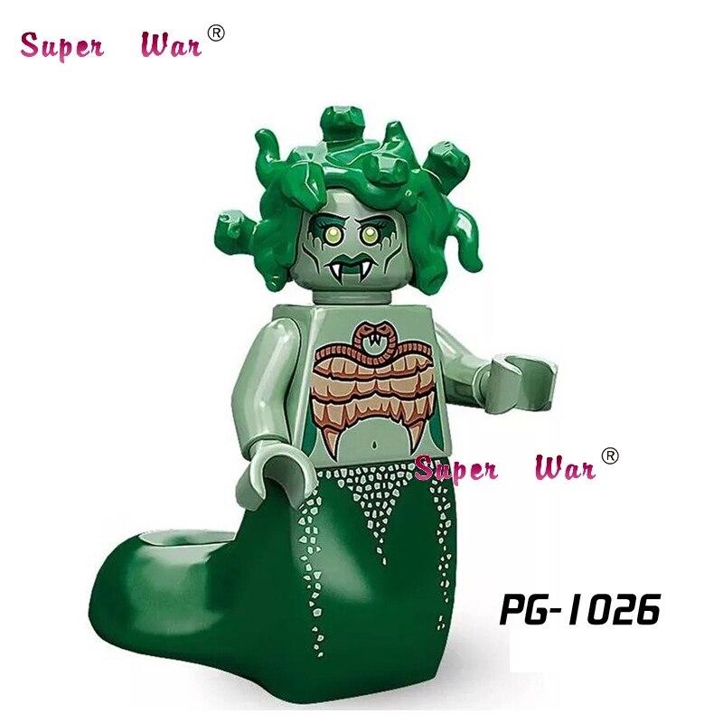 1PCS  Super Heroes Series Medusa Inhumans Collectible Building Blocks Models Bricks Hobby Toys For Children Kits