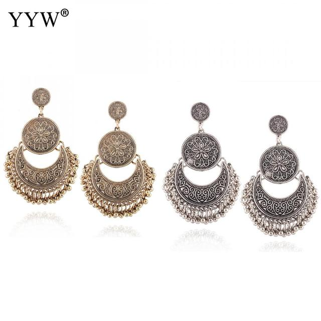Yyw New Luxury Vintage Earrings For Woman Bride Bridesmaid Weddings Pendant Drop Turkish India Canada Fashion