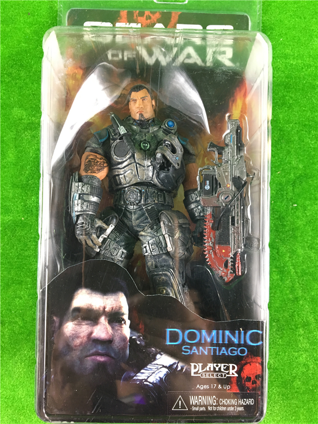Free Shipping Gears Of War DOMINIC NECA Originals Genuine New Doll Model 7 Inch