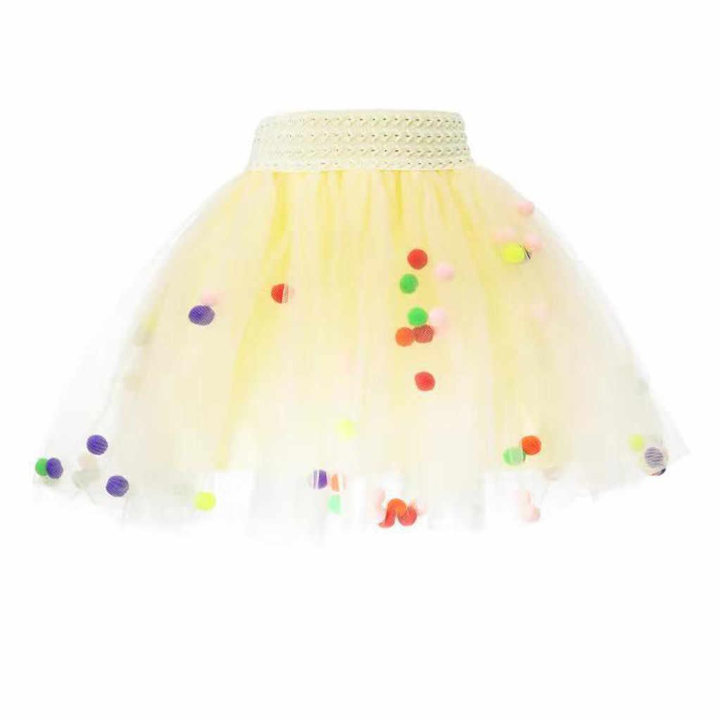 Новая модная танцевальная сетчатая юбка для маленьких девочек, юбка-американка в горошек с фруктовым принтом, вечерние платья принцессы для танцев, clothes12M-6T для девочек