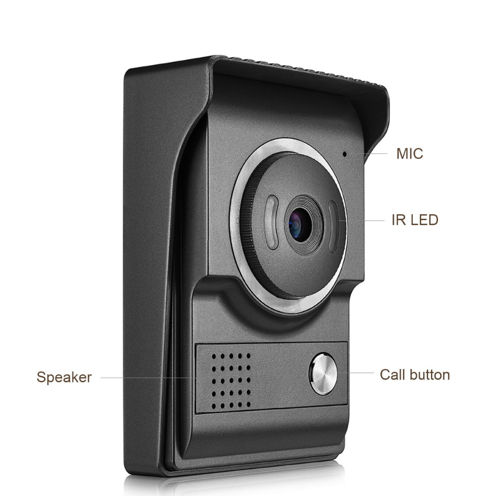Door Phone For 4 Wire Cable Cameras Wired Video Door Phone Intercom Entry System