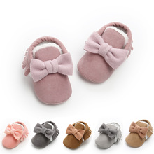 Winter New Baby Girls Shoes Warm Cotton Toddler Shoes Baby Boots Infant Fashion Boots Fashion Baby Moccasins cheap ROMIRUS Plush Flat with Butterfly-knot ANKLE Round Toe Fits true to size take your normal size Elastic band Cotton-padded shoes