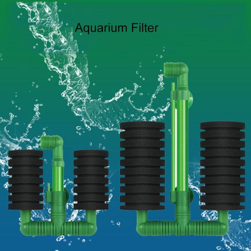 Green Aquarium Filter For Aquarium Fish Tank Air Pump Skimmer Biochemical Sponge Filter Aquarium Bio Filter Filtro Aquario