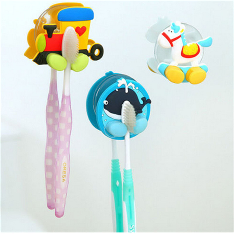 New Toothbrush Holder Suction Cup Sucker Hooks Teeth Brush Rack Use