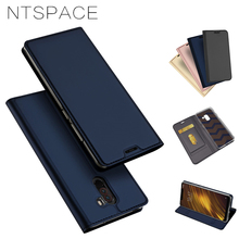 NTSPACE For Xiaomi Pocophone F1 Flip Case High Quality PU Leather Stand Holder Flip Cover For Xiaomi Poco F1 Phone Cases for xiaomi pocophone f1 case slim skin matte cover for xiaomi f1 pocophone f1 case xiomi hard frosted cover xiaomi poco f1 case