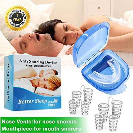 Anti Snore Apnea Nose Clip Anti-Snoring Breathe Aid Stop Snore Device Sleeping Aid Equipment Stop Snoring Tooth Protect Set