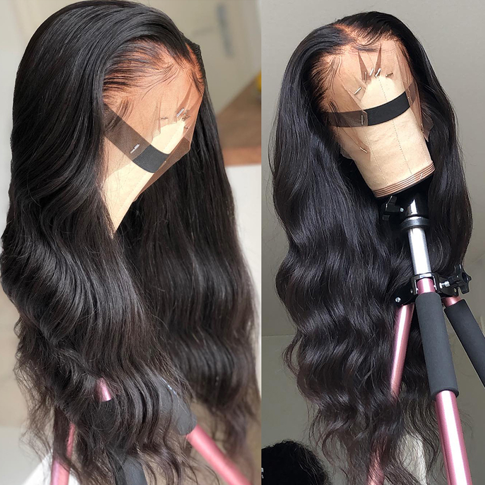 13x6 Lace Front Human Hair Wigs Pre Plucked Hairline Brazilian Body Wave Lace Frontal Wig With Baby Hair For Women Remy UEENLY