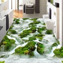 Custom 3D Photo Wallpaper Waterfall Creek River Stone