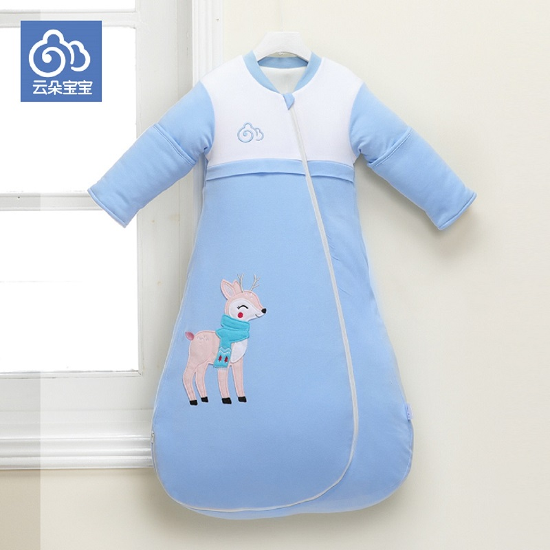 Baby sleeping bag envelop for neonate pure cotton newborn baby infant wrapped cocoon in winter stroller bag well done in details boy girl infant wrap envelop for newborns sleeping bag pure cotton printed with fawn patterns thicken in autum winter or sprin