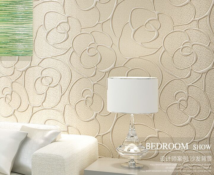 Modern Wallpaper Patterns 3D Stereoscopic Wallpapers Flower Mural Non Woven Floral Wall Paper For Bedroom Living Room Walls In From Home