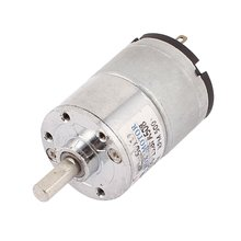 Uxcell DC Motor 12V 400-500RPM Electric Powerful High Torque Gear Box Motors Silver Tone Electrical Equipment Supplies
