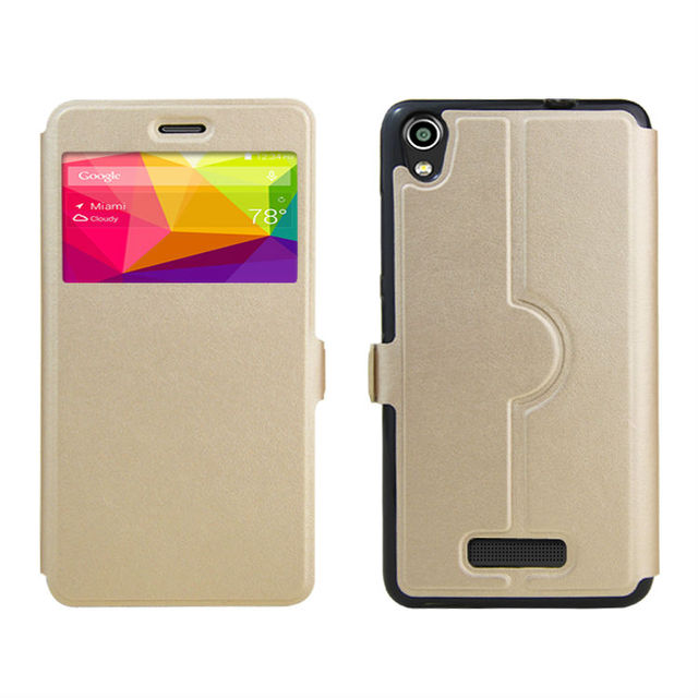 PIERVES high quality PU skin leather case cover shield For BLU Studio M HD S110L S110U