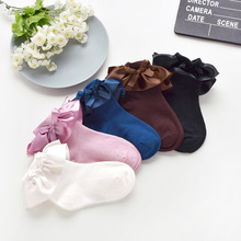 Girls Socks Children Brand Princess Socks Cotton Breathable Bow Lace cute Baby Girls Kids Ruffle Frilly Ankle Socks 2018 lace socks girls cozy vintage lace ruffle frilly ankle socks baby girls princess socks floral kids meias school pink sweet