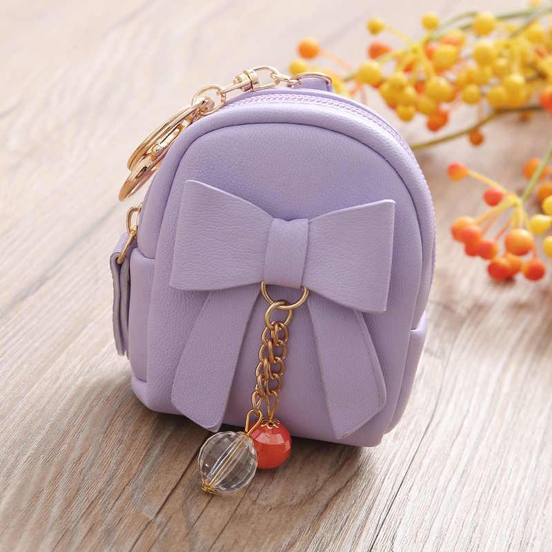 Mulheres Curtas Carteiras PU LEATHER Lady Zipper Moneybags Mini Coin bolsa Cartão de IDENTIFICAÇÃO de Bolso Sacos de Mulher Bolsas Anel de Chaveiro Carteira bolsa