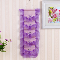 Lace Multifunctional Storage Bag Fashion Organizer Hanging Storage Pouch Bags Case For Door Bathroom Free Shipping