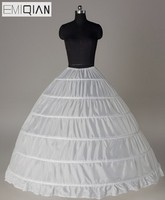 High Quality Stylish Ball Gown 6 Hoops Petticoats Crinolines Underskirt for Wedding Dress