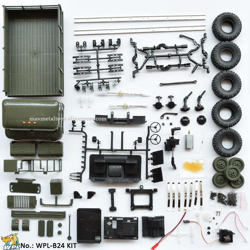 Wpl b24 1:16 키트 diy rc 트럭 4wd 2.4g 오프로드 시뮬레이션 레이싱 카 라디오 제어 자동차 carrinho de controle-에서RC 카부터 완구 & 취미 의  그룹 1